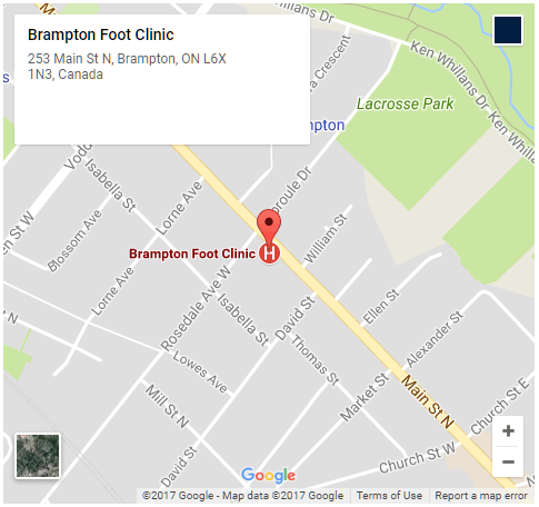 Google Map - Brampton Foot Clinic - Square